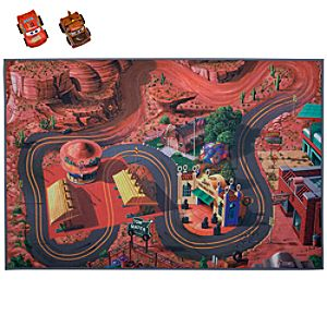 Pullback Cars and Playmat Disney Cars Play Set
