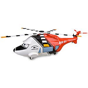 Cars Toon Rescue Squad Helicopter Die Cast Carrier Play Set -- 4-Pc.