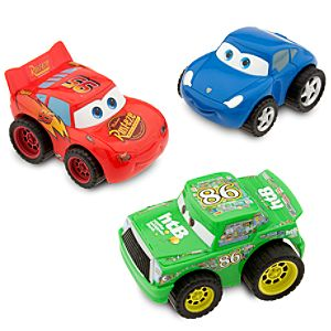 Disney Cars Turbo Pullback Racer Set with Lightning McQueen -- 3-Pc.