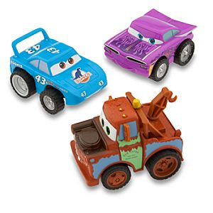 Disney Cars Turbo Pullback Racer Set with Tow Mater -- 3-Pc.