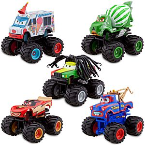 Deluxe Monster Truck Mater Figure Set -- 5-Pc.