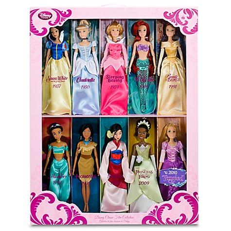 Classic Disney Dolls Gift Set -- 10-Pc.