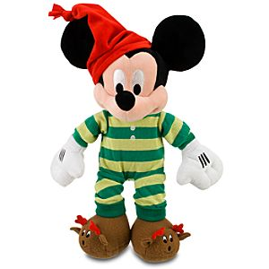 Christmas Morning Mickey Mouse Plush -- 17 H