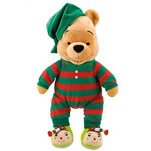 Christmas Morning Winnie the Pooh Plush -- 17 H