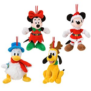Plush Mickey Mouse and Friends Ornament Set -- 4-Pc.