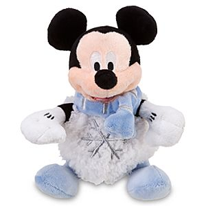 Mini Snowball Mickey Mouse Beanie Baby Plush Toy -- 8