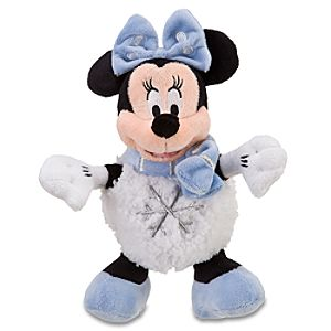 Mini Snowball Minnie Mouse Beanie Baby Plush Toy -- 9 1/2