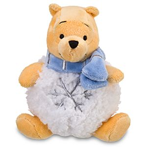 Mini Snowball Pooh Beanie Baby Plush Toy -- 7