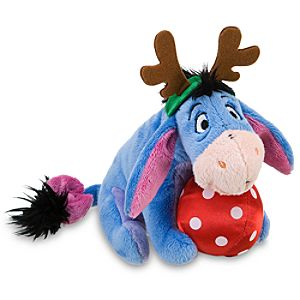 Mini Decorating Party Eeyore Beanie Baby Plush Toy -- 7