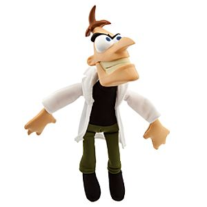 Gabble Head Phineas and Ferb Plush -- Dr Doofenshmirtz