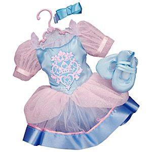 Princess and Me Cinderella Ballet Recital Costume Set -- 4-Pc.