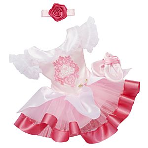 Princess and Me Aurora Ballet Recital Costume Set -- 4-Pc.