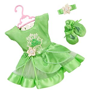Princess and Me Tiana Ballet Recital Costume Set -- 4-Pc.