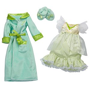 Princess and Me Tiana Royal Sleepwear Ensemble -- 4-Pc.