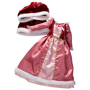 Princess and Me Belle Holiday Gown and Cape