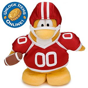 Club Penguin 6 1/2 Limited Edition Penguin Plush - American Football Player