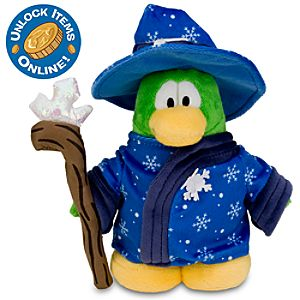 Club Penguin 6 1/2 Limited Edition Penguin Plush - Blizzard Wizard (Semi-Rare Chase)