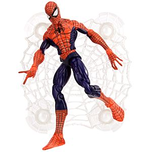 Wall Sticking Web Spider-Man Action Figure -- Blue -- 6 H