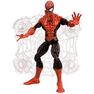 Wall Sticking Web Spider-Man Action Figure -- Black -- 6 H