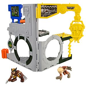 Marvel Super Hero Squad X-Men Danger Room Play Set -- Wolverine and Sabretooth