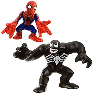 Super Hero Squad   Spider Man and Venom Action Figures