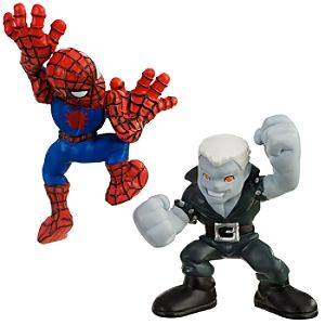 Super Hero Squad    Spider Man and Tombstone Action Figures
