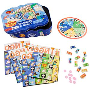 Phineas and Ferb Dominoes and Bingo Game Tin
