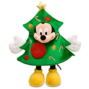Personalized Christmas Tree Mickey Mouse Plush -- 18