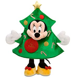 Personalized Christmas Tree Minnie Mouse Plush -- 18