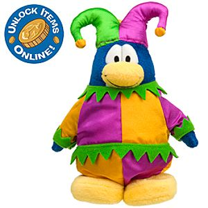 Club Penguin 6 Limited Edition Penguin Plush -- Court Jester (Semi-Rare Chase)