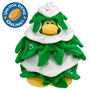 Club Penguin 6 Limited Edition Penguin Plush -- Christmas Tree