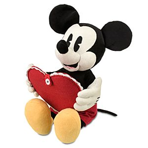 Personalized Valentines Day Mickey Mouse Plush -- 10