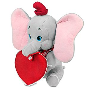 Personalized Valentine's Day Dumbo Plush -- 11''