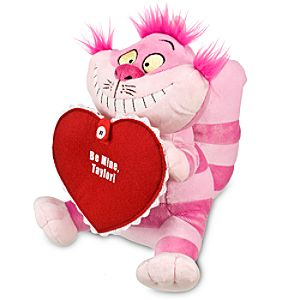 Personalized Valentines Day Cheshire Cat Plush -- 8 1/2