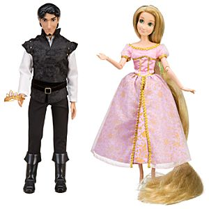 Tangled Rapunzel and Flynn Doll Set -- 3 Pc.