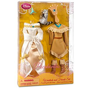 Pocahontas Wardrobe and Friends Set -- 6-Pc.
