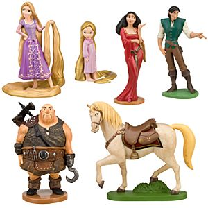 Tangled Rapunzel Figure Play Set -- 6-Pc.