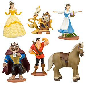 Beauty and the Beast Figure Play Set -- 6-Pc.