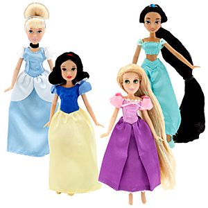 Enchanting Mini Princess Collection Disney Princess Doll Set #1 -- 4-Pc.