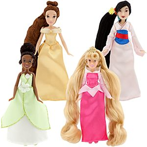 Enchanting Mini Princess Collection Disney Princess Doll Set #2 -- 4-Pc.