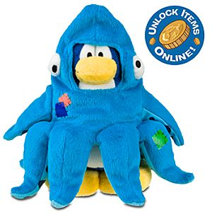 Club Penguin 6 Limited Edition Penguin Plush -- Squidzoid (Semi Rare Chase)