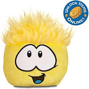 Club Penguin Series #6 -- 4 Yellow Pet Puffle