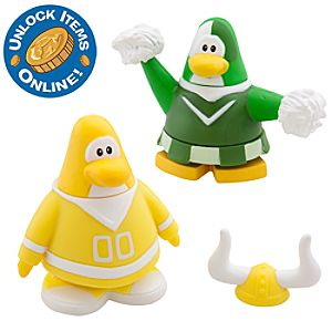 Club Penguin 2 Mix N Match Figure Pack -- Yellow Team and Green Team Cheerleader