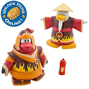 Club Penguin 2 Mix N Match Figure Pack -- Fire Ninja and Fire Sensei