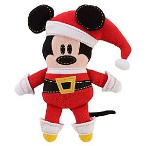 Pook-a-Looz Santa Mickey Mouse Plush Toy