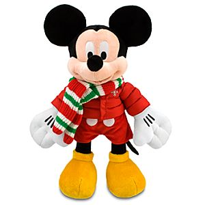 Holiday Mickey Mouse Plush -- 17
