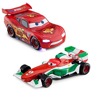 Light-Up Racing Rivals Cars 2 Die Cast Set -- Lightning McQueen vs. Francesco Bernoulli