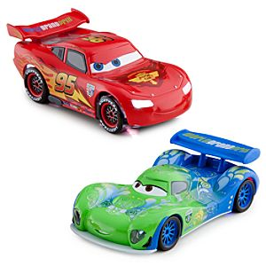 Light-Up Racing Rivals Cars 2 Die Cast Set -- Lightning McQueen vs. Carla Veloso