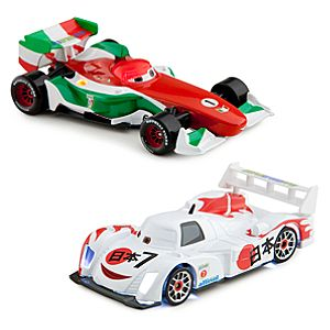 Light-Up Racing Rivals Cars 2 Die Cast Set #3 -- Francesco Bernoulli vs. Shu Todoroki