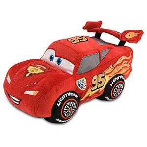 Cars 2 Lightning McQueen Plush Toy -- 13 H